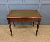Victorian Walnut 2 Drawer Writing Table (4 of 15)