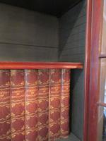 Fine George III Period Flame Mahogany Bureau Bookcase (8 of 9)