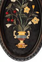 Attractive Pair of Late 19th Century Pietra Dura Pictures (4 of 4)