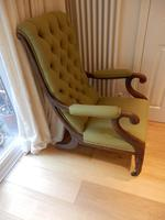 William IV arm chair, unmarked upholstery. (3 of 6)