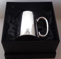 Edwardian 1905 Hallmarked Solid Silver 1 One Pint Tankard Christening Mug (10 of 10)