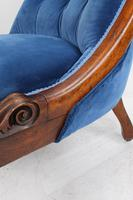 Victorian Button Back Walnut Slipper Chair (13 of 13)