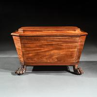 Regency Mahogany Wine Cooler Cellarette of Sarcophagus Form (6 of 10)