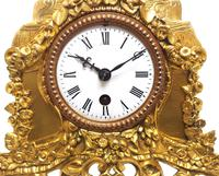 Superb Timepiece Mantle Clock -  Antique 8 Day French Poet Figural Ormolu Mantel Clock (6 of 11)