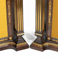 Pair of Regency Brass Inlaid Rosewood Side Cabinets (17 of 17)