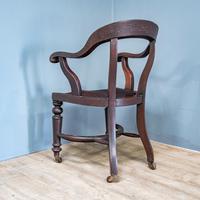 19th Century Mahogany Office Chair (8 of 8)