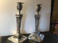 Fine Pair Solid Silver Victorian Candlesticks (6 of 7)