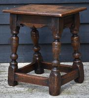 Lovely 19th Century Oak Joint Stool c.1800-1850