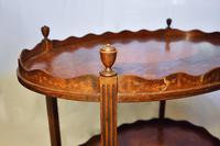 George III Two Tier Inlaid Mahogany Table (2 of 11)