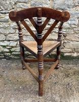 Antique Oak Turners Corner Chair (9 of 14)