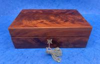 Georgian Flame Mahogany Box c.1820 (4 of 10)