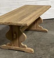 French Oak Trestle Farmhouse Dining Table (8 of 14)