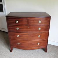 Mahogany Bow Front Chest of Drawers (3 of 7)