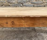 Large Antique Pine Farmhouse Table on Turned Legs (19 of 19)
