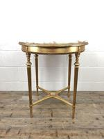 Gold Gilt Table with Circular Onyx Top (7 of 11)