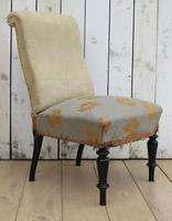 Pair of Antique French Slipper Chairs (5 of 9)
