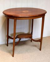 Oval Inlaid Occasional Mahogany Table (5 of 9)