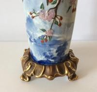 Royal Worcester Aesthetic Design Vase with Stork Locus & Cherry Blossom Detail (3 of 12)