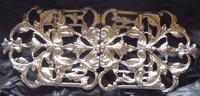 Victorian London 1894 Hallmarked Solid Silver Nurses Belt Buckle (6 of 9)
