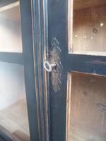 Trendy Victorian Black 2 Door Antique Pine Glazed Kitchen Dresser (4 of 11)