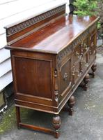 1940s Oak Sideboard with Back - Good Storage (4 of 5)