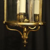 French Gilded Triple Light Antique Lantern (2 of 10)