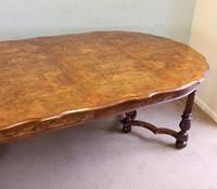 Antique Burr Walnut Extending Dining Table Eight Seater (3 of 14)