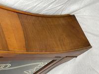Art Deco Walnut Curved Bookcase Display Storage Cabinet (11 of 29)
