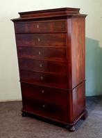 Danish Antique Mahogany Chest of Drawers (5 of 8)