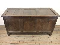 Antique 18th Century Oak Coffer with Three Panel Front (2 of 19)