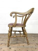 Early 20th Century Beech Smoker's Bow Chair (7 of 8)