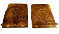 Antique Pair of Carved Oak Bookends c.1905 (4 of 5)