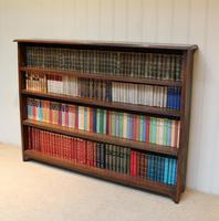 Large Solid Oak Open Bookcase (5 of 9)
