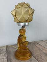 Art Deco Walther And Sohne Glass Table Lamp, Circa 1930's, Rewired And Pat Tested (7 of 10)