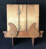 Arts & Crafts Oak Campaign Folding Book Stand (2 of 6)