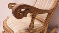 Pair of Regency Painted & Parcel Gilt Rocking Chairs (13 of 17)