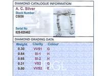 2.40 ct Diamond and Platinum Drop Earrings - Vintage Circa 1950 (8 of 9)