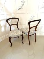 Exceptional Pair of Antique Victorian Carved Rosewood Side Chairs