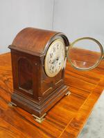 Inlaid Mahogany Mantel Clock by Hamilton & Inches (5 of 5)