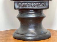 Classical Music Interest German Bronze Composer Ludwig Van Beethoven Bust Sculpture (5 of 25)