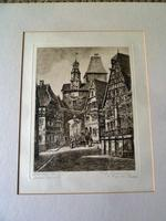 Etching by Professor Otto Ferdinand Probst - Rothenberg ? (2 of 5)
