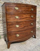 Large Regency Mahogany Bow Front Chest of Drawers (8 of 19)