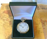 Antique Omega Labrador Pocket Watch 1912 15 Jewel 10ct Rose Gold Filled Case FWO (12 of 12)
