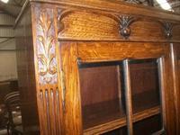 Glazed Oak Bureau Bookcase (4 of 7)