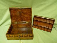 Large Tunbridge Ware Style Jewellery Box - Original Tray c.1870 (13 of 16)
