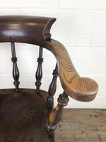 19th Century Ash and Elm Smoker's Bow Chair (M-1704) (7 of 15)