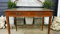 Victorian Mahogany Two-Drawer Writing Desk (2 of 8)