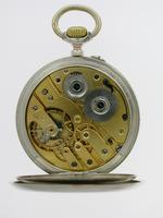 Silver 0.800 L.U.C. Chopard Open Faced Pocket Watch 1915 - Louis Ulysses Chopard (4 of 6)