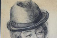 19th Century Charcoal Drawing Bearded Gent (5 of 10)