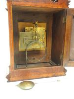 Wow! Superb Antique German Burr Walnut 8-Day Mantel Clock Striking Bracket Clock by Lenzkirch (4 of 10)